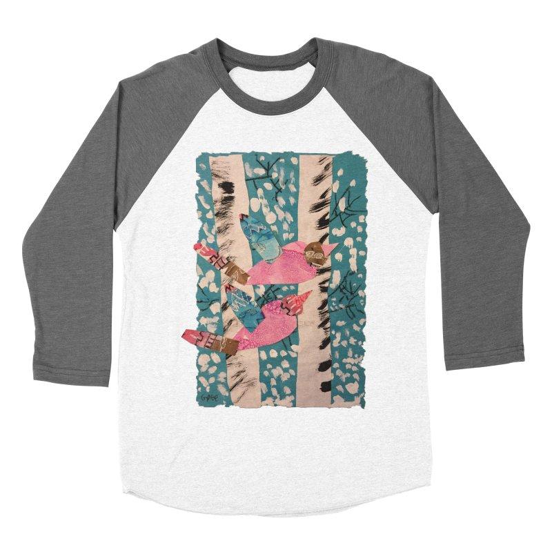 Snowy Aspen Birds Men's Baseball Triblend T-Shirt by Gabe and Taytay Artist Shop