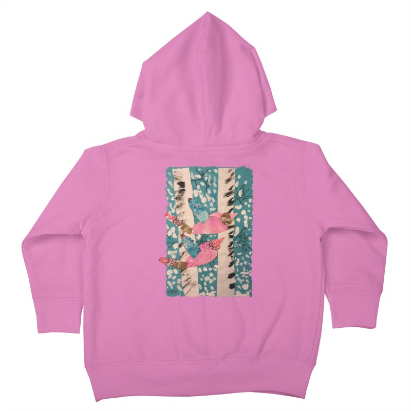 Snowy Aspen Birds Kids Toddler Zip-Up Hoody by Gabe and Taytay Artist Shop
