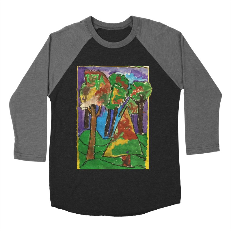 The Forrest - by gabe Men's Baseball Triblend T-Shirt by Gabe and Taytay Artist Shop
