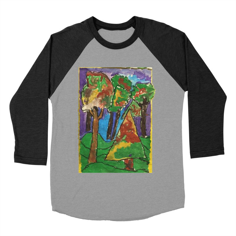 The Forrest - by gabe Men's Baseball Triblend Longsleeve T-Shirt by Gabe and Taytay Artist Shop