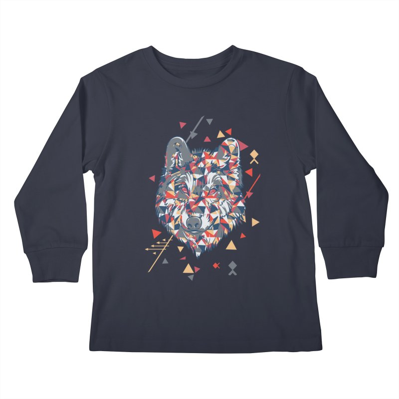 wolf pack Kids Longsleeve T-Shirt by Gab Fernando's Artist Shop