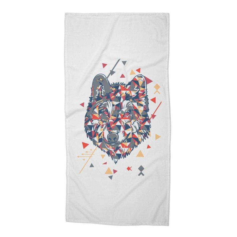 wolf pack Accessories Beach Towel by Gab Fernando's Artist Shop