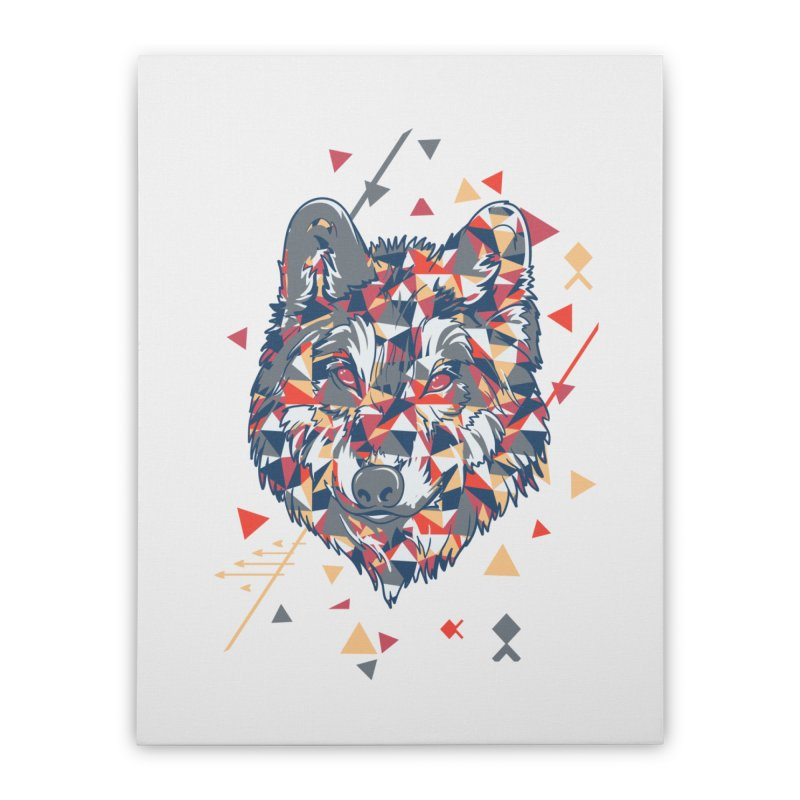 wolf pack Home Stretched Canvas by Gab Fernando's Artist Shop