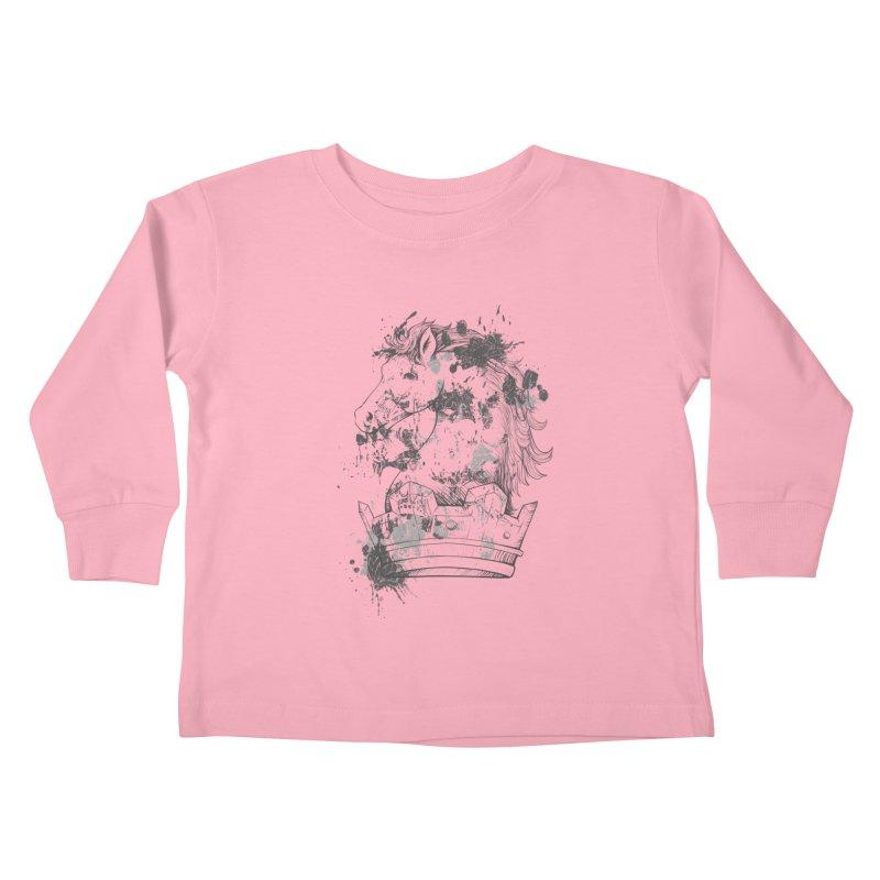 Horse Kids Toddler Longsleeve T-Shirt by Gab Fernando's Artist Shop