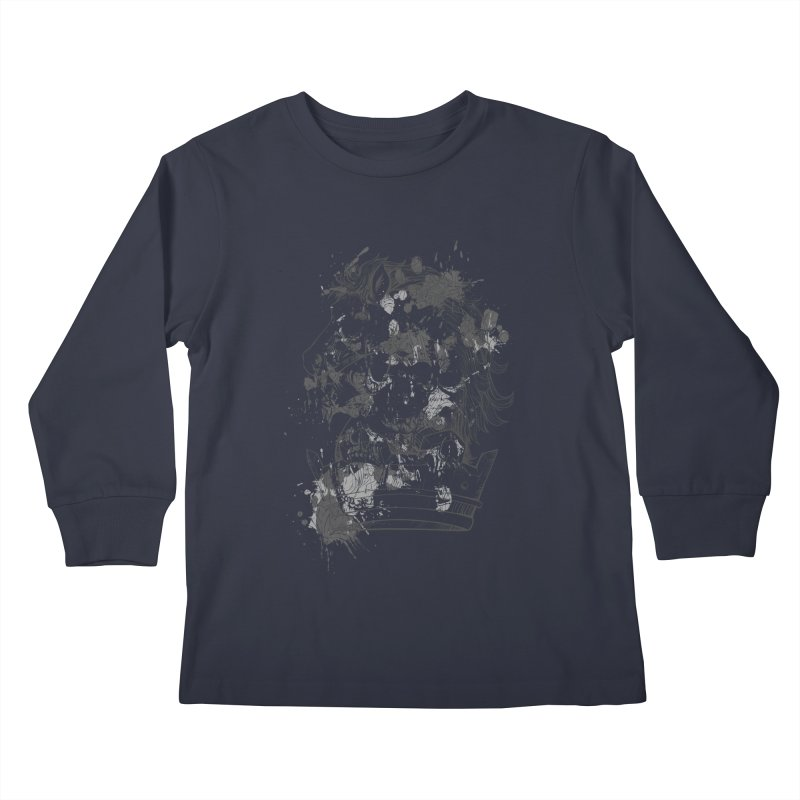 Horse Kids Longsleeve T-Shirt by Gab Fernando's Artist Shop