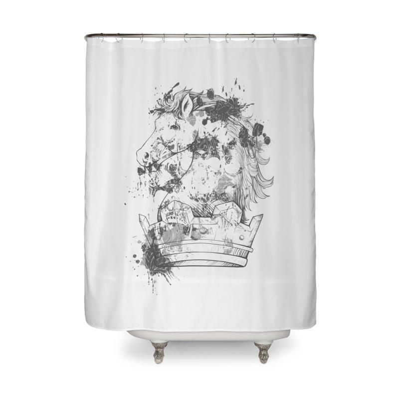 Horse Home Shower Curtain by Gab Fernando's Artist Shop