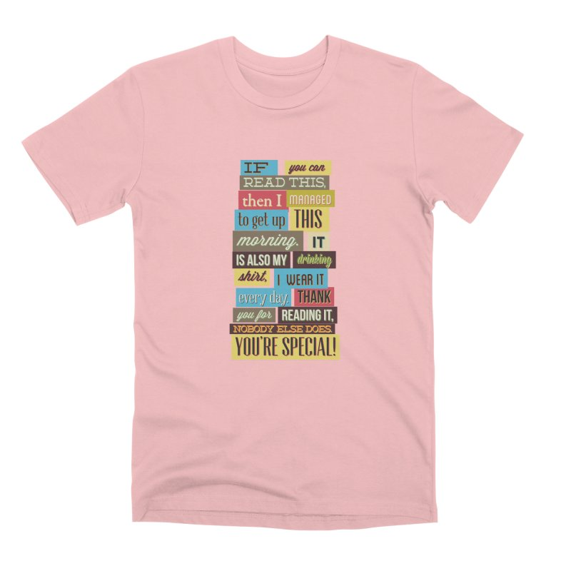 Text Art Men's T-Shirt by Gab Fernando's Artist Shop