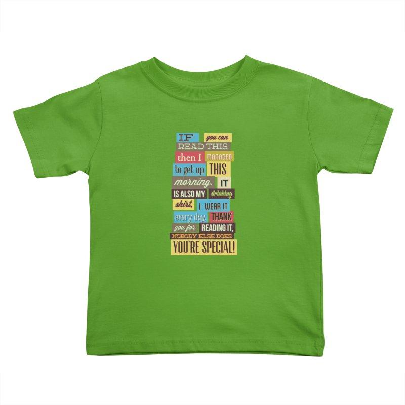 Text Art Kids Toddler T-Shirt by Gab Fernando's Artist Shop