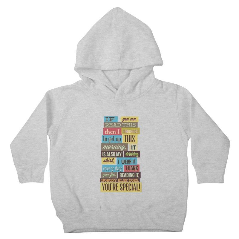 Text Art Kids Toddler Pullover Hoody by Gab Fernando's Artist Shop