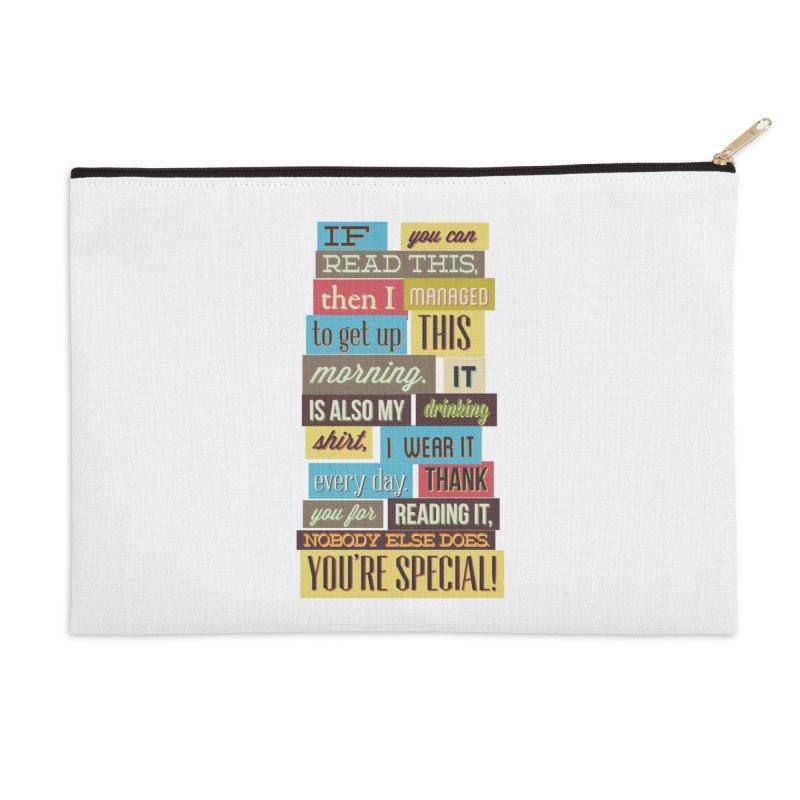 Text Art Accessories Zip Pouch by Gab Fernando's Artist Shop