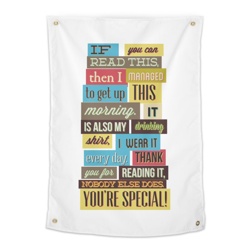 Text Art Home Tapestry by Gab Fernando's Artist Shop