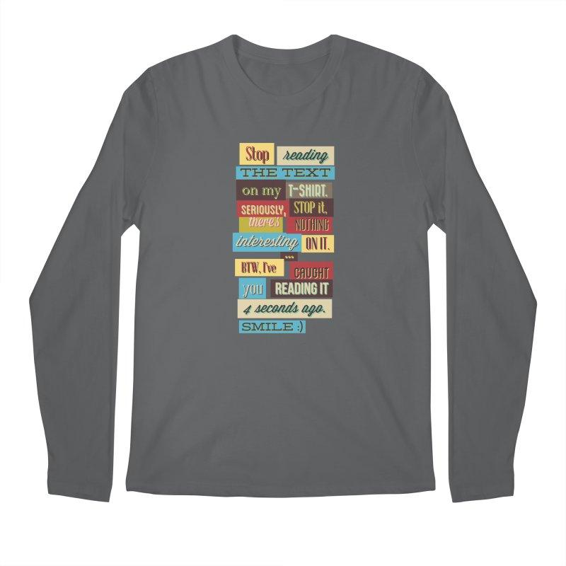 Text Art Men's Longsleeve T-Shirt by Gab Fernando's Artist Shop