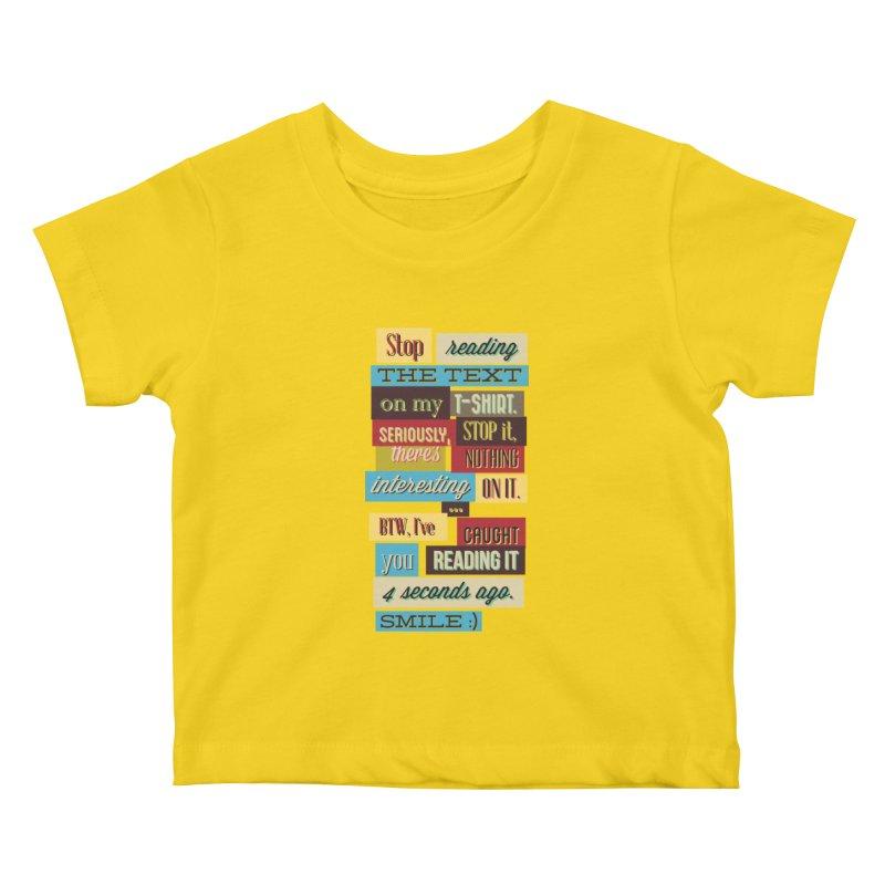 Text Art Kids Baby T-Shirt by Gab Fernando's Artist Shop