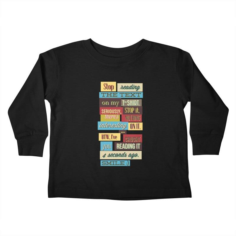 Text Art Kids Toddler Longsleeve T-Shirt by Gab Fernando's Artist Shop