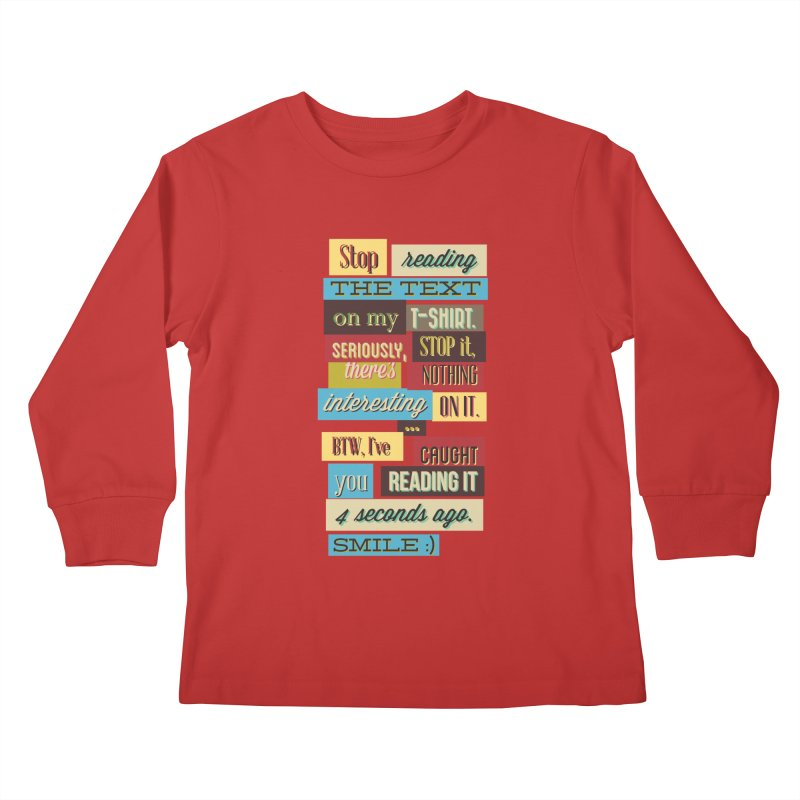 Text Art Kids Longsleeve T-Shirt by Gab Fernando's Artist Shop