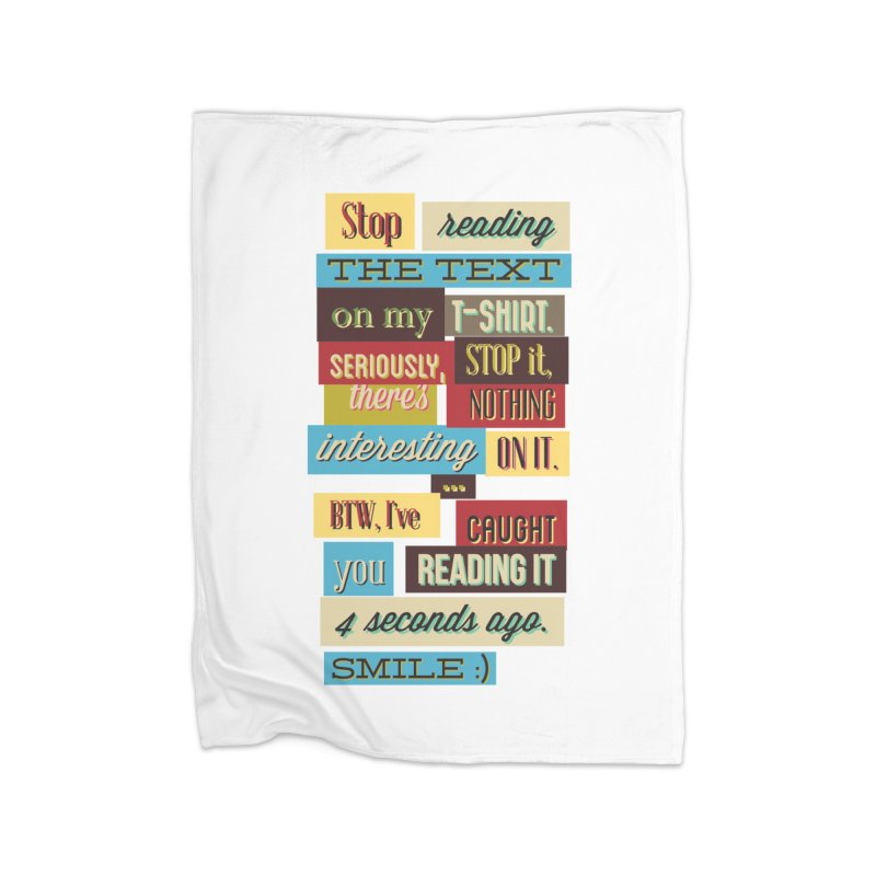 Text Art Home Blanket by Gab Fernando's Artist Shop