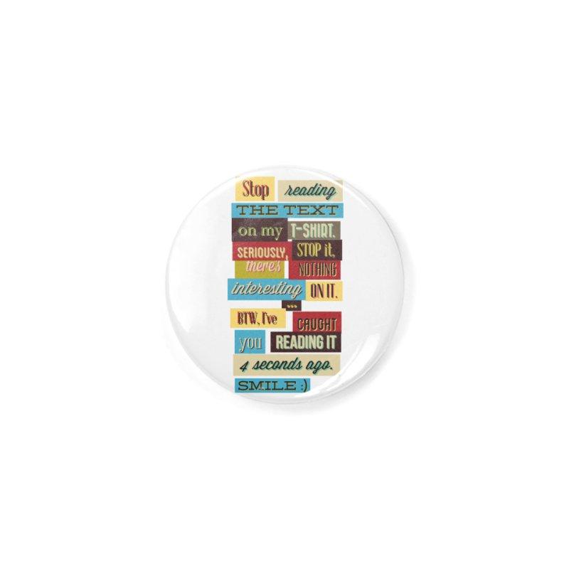 Text Art Accessories Button by Gab Fernando's Artist Shop