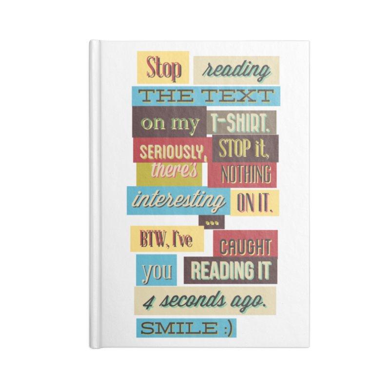 Text Art Accessories Notebook by Gab Fernando's Artist Shop