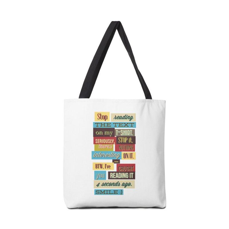 Text Art Accessories Bag by Gab Fernando's Artist Shop