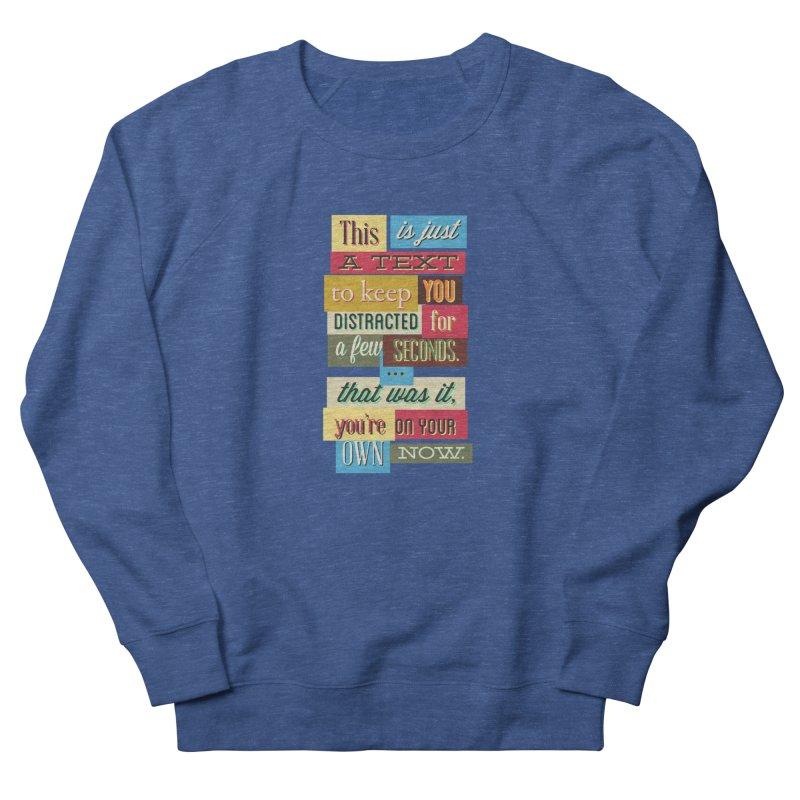 Text Art Men's Sweatshirt by Gab Fernando's Artist Shop