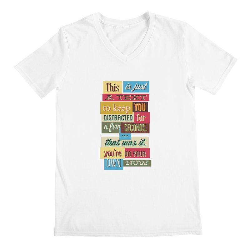 Text Art Men's V-Neck by Gab Fernando's Artist Shop