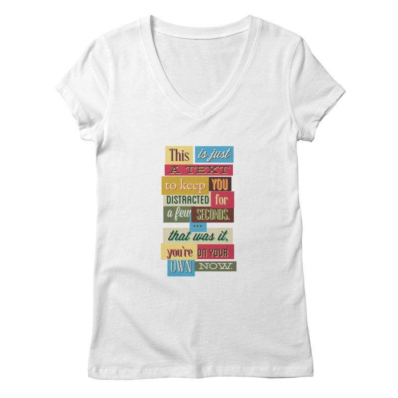 Text Art Women's V-Neck by Gab Fernando's Artist Shop
