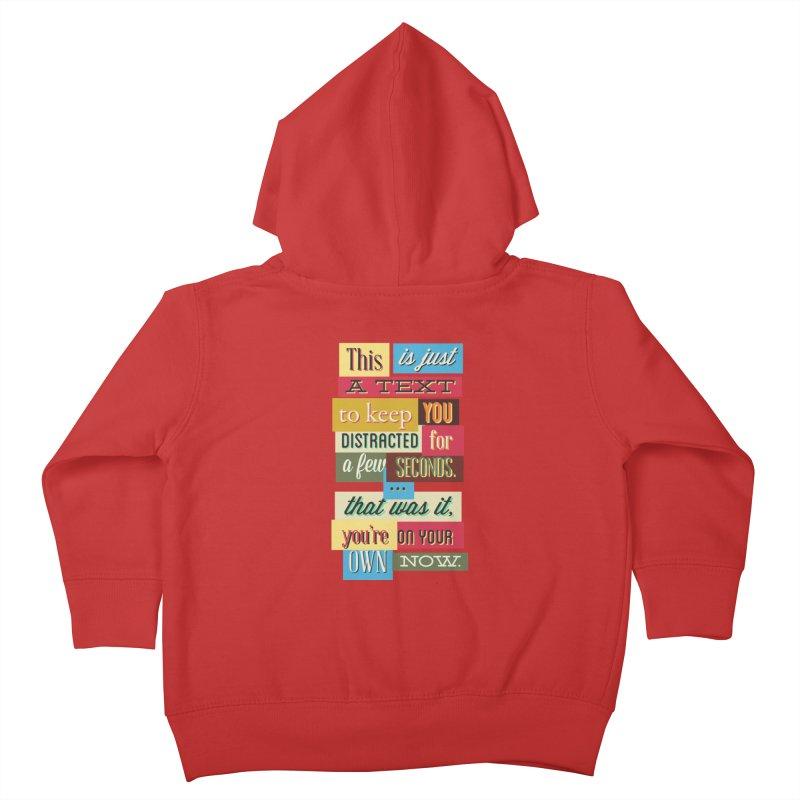 Text Art Kids Toddler Zip-Up Hoody by Gab Fernando's Artist Shop