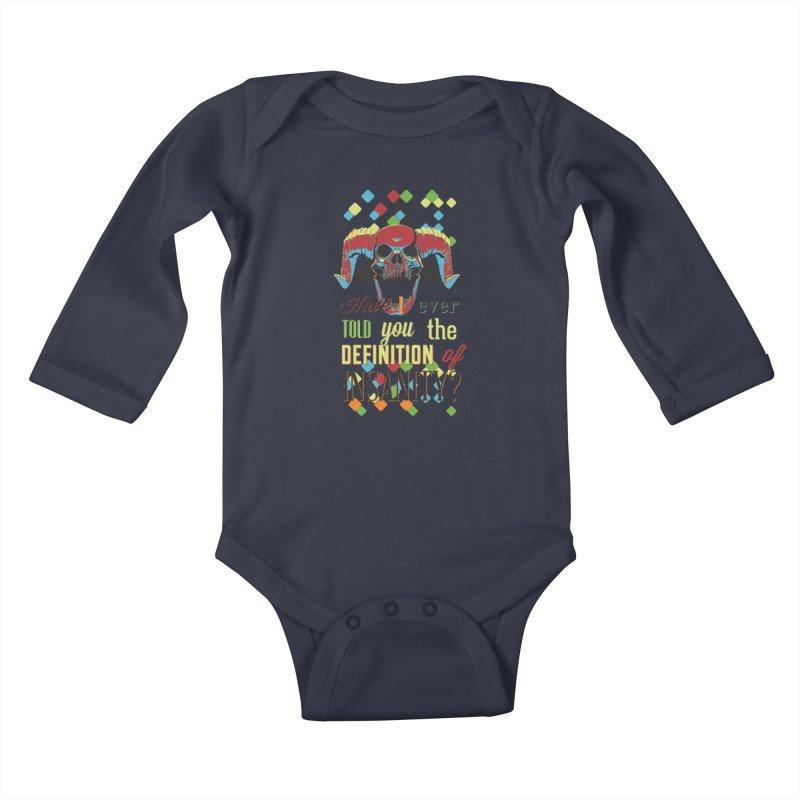 Insanity Kids Baby Longsleeve Bodysuit by Gab Fernando's Artist Shop