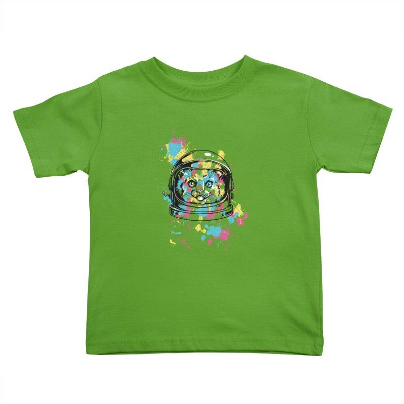 Space Cat Kids Toddler T-Shirt by Gab Fernando's Artist Shop
