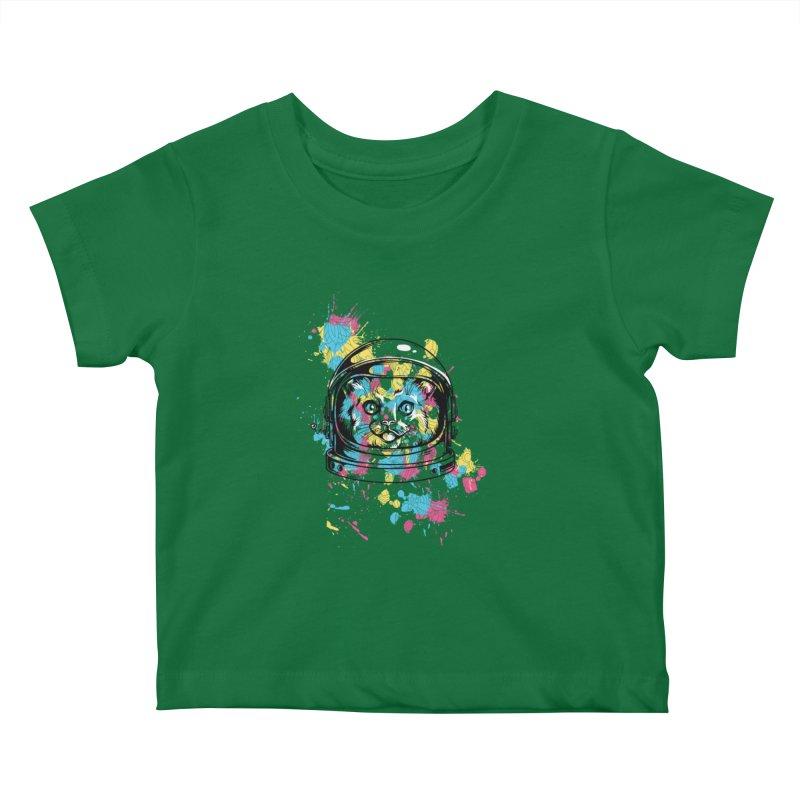 Space Cat Kids Baby T-Shirt by Gab Fernando's Artist Shop