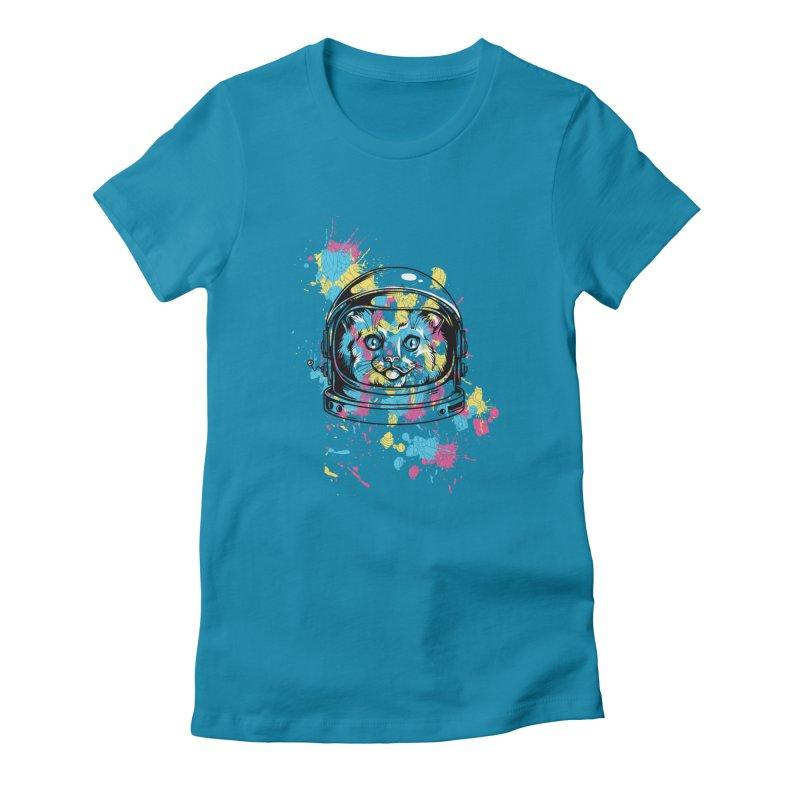 Space Cat Women's T-Shirt by Gab Fernando's Artist Shop