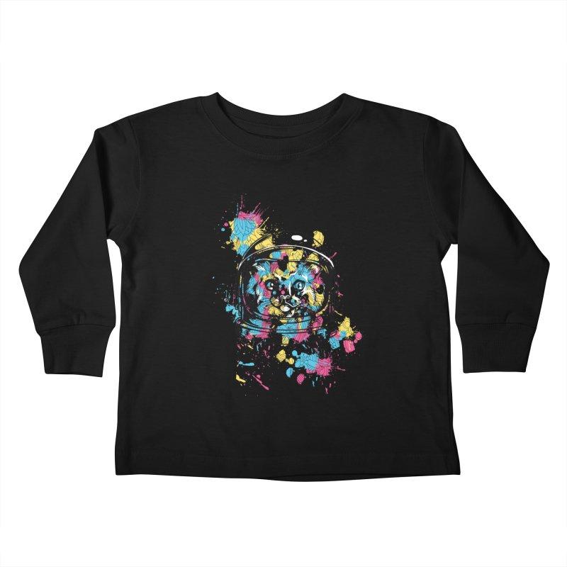 Space Cat Kids Toddler Longsleeve T-Shirt by Gab Fernando's Artist Shop