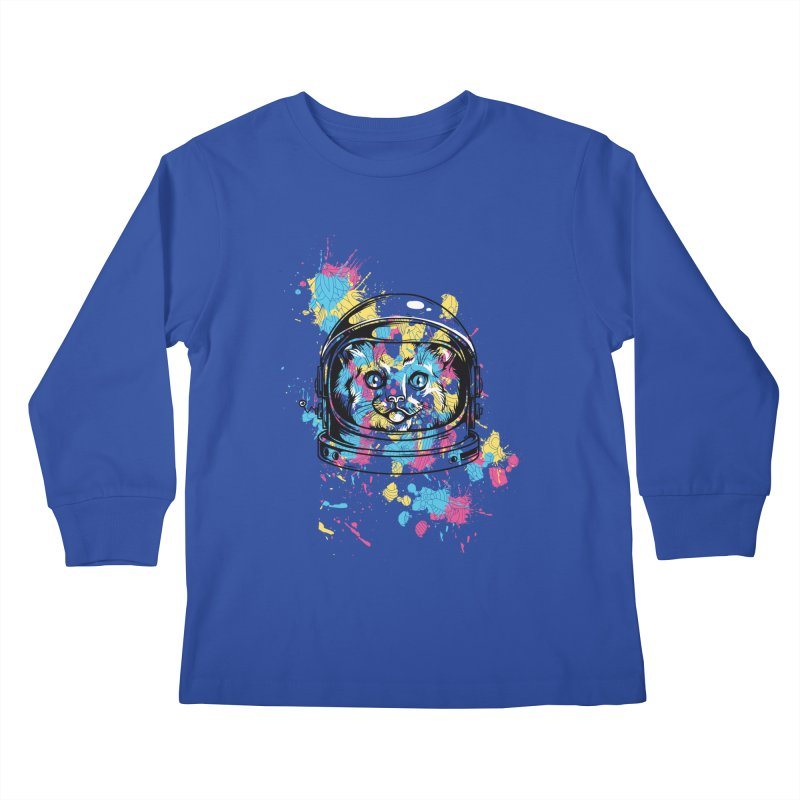 Space Cat Kids Longsleeve T-Shirt by Gab Fernando's Artist Shop