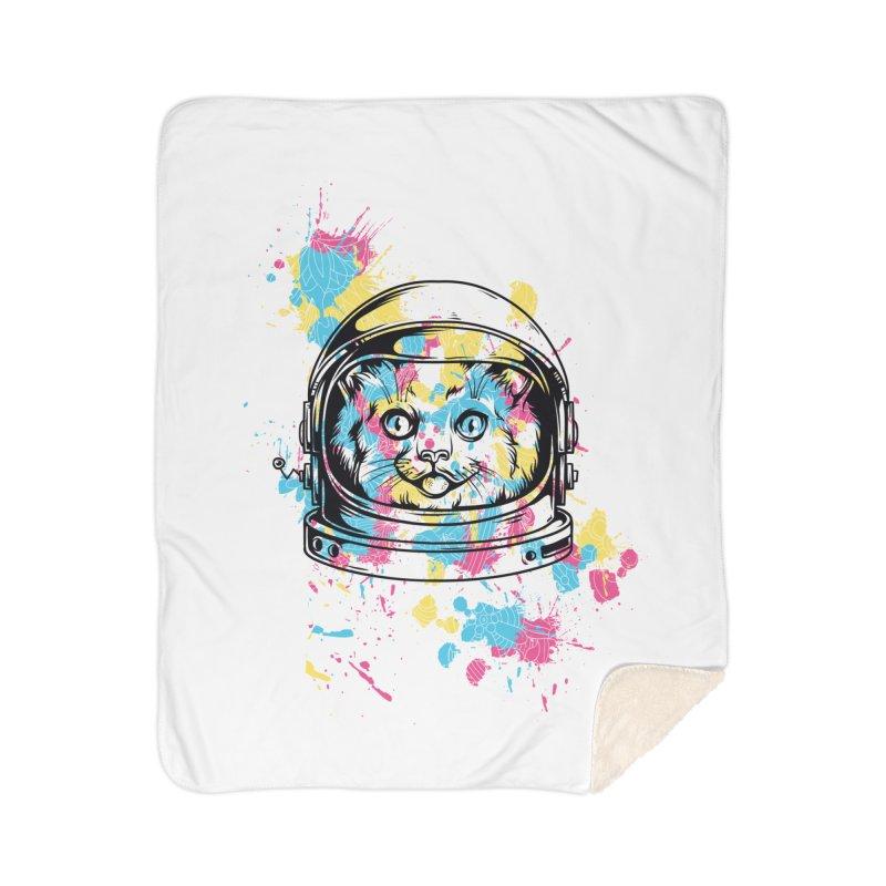Space Cat Home Blanket by Gab Fernando's Artist Shop