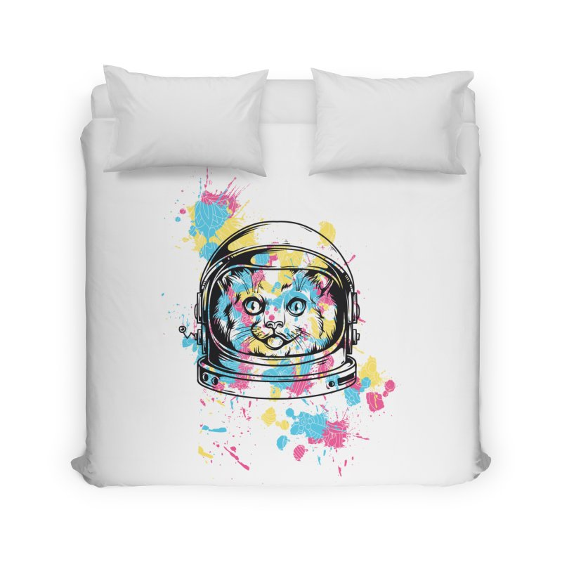 Space Cat Home Duvet by Gab Fernando's Artist Shop