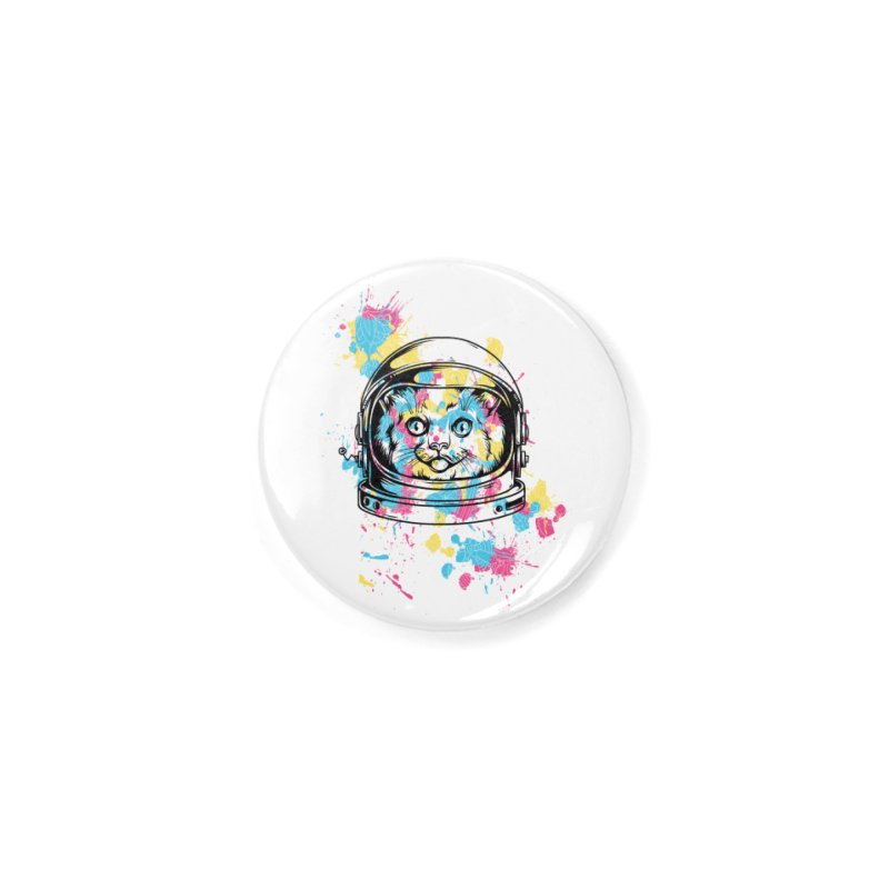 Space Cat Accessories Button by Gab Fernando's Artist Shop