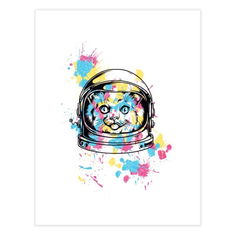Space Cat Home Fine Art Print by Gab Fernando's Artist Shop