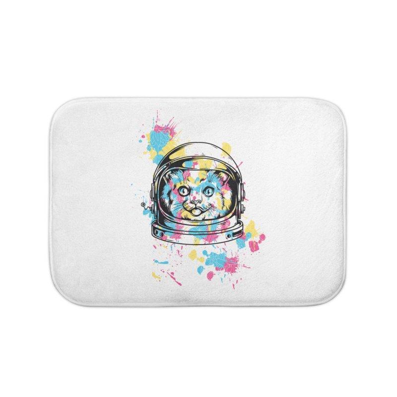 Space Cat Home Bath Mat by Gab Fernando's Artist Shop