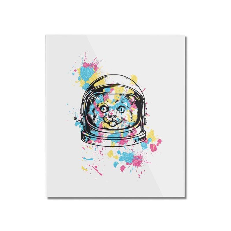 Space Cat Home Mounted Acrylic Print by Gab Fernando's Artist Shop