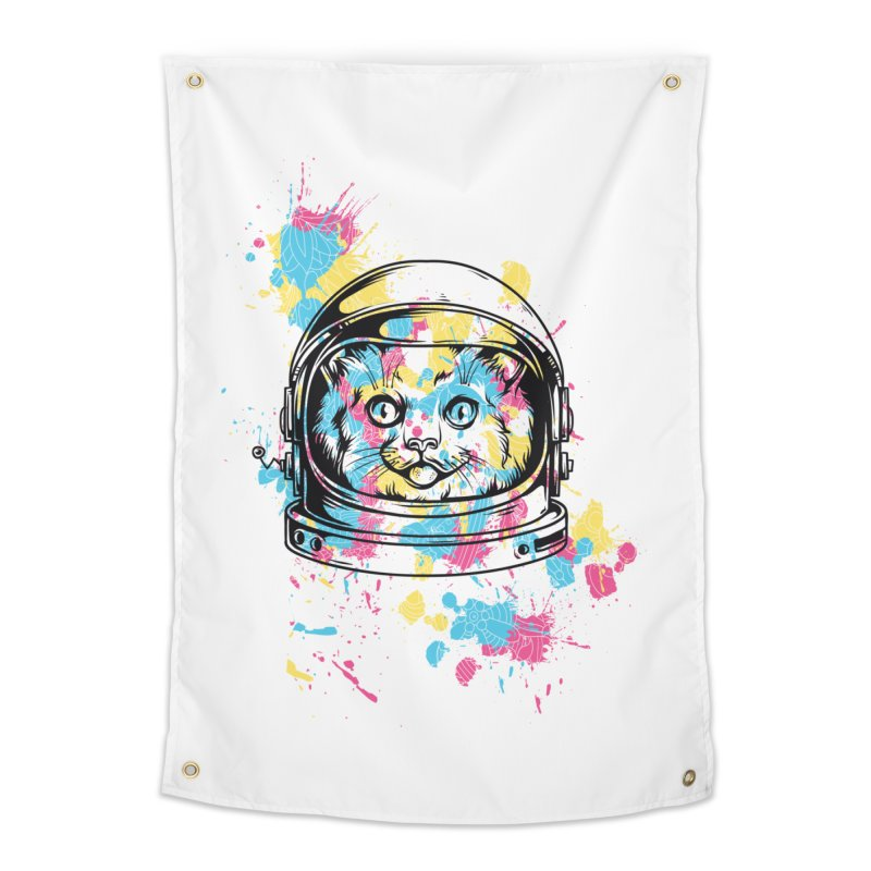 Space Cat Home Tapestry by Gab Fernando's Artist Shop