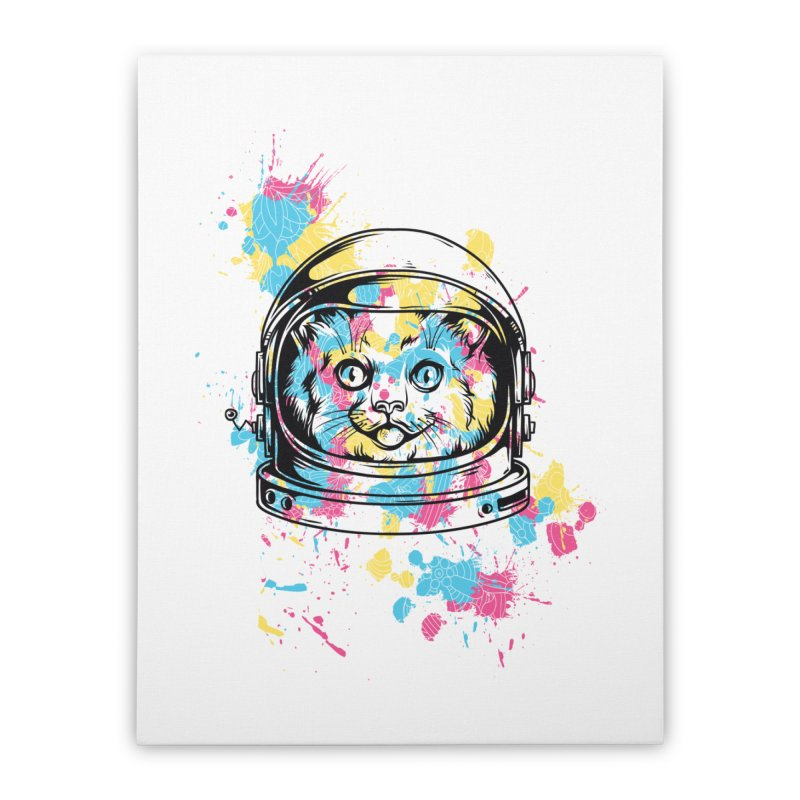 Space Cat Home Stretched Canvas by Gab Fernando's Artist Shop