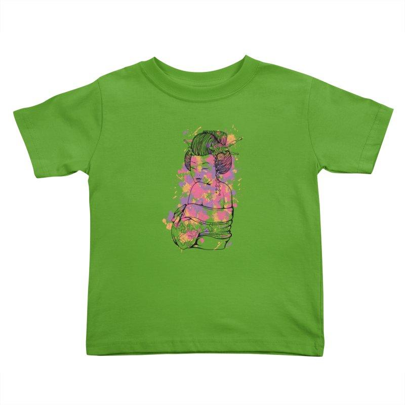 Geisha Kids Toddler T-Shirt by Gab Fernando's Artist Shop