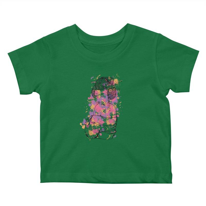 Geisha Kids Baby T-Shirt by Gab Fernando's Artist Shop
