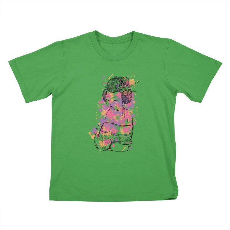 Geisha Kids T-Shirt by Gab Fernando's Artist Shop