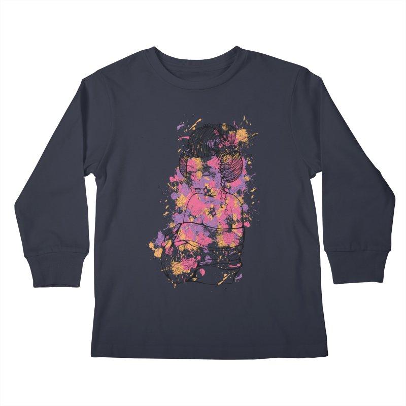 Geisha Kids Longsleeve T-Shirt by Gab Fernando's Artist Shop
