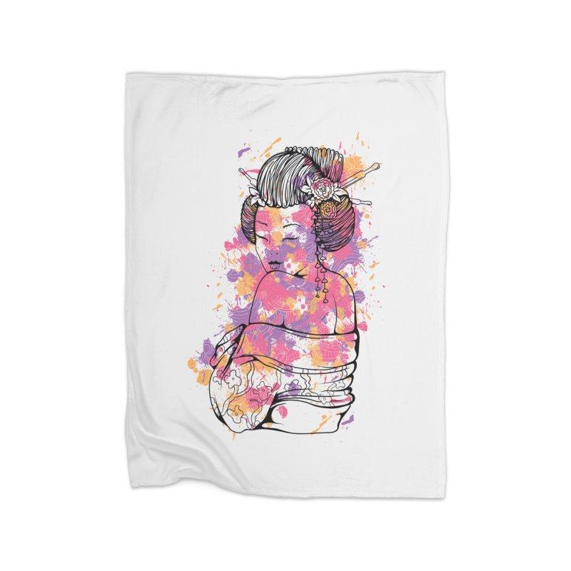 Geisha Home Blanket by Gab Fernando's Artist Shop