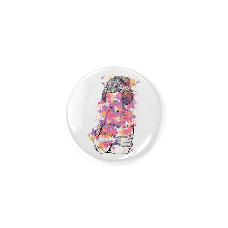 Geisha Accessories Button by Gab Fernando's Artist Shop