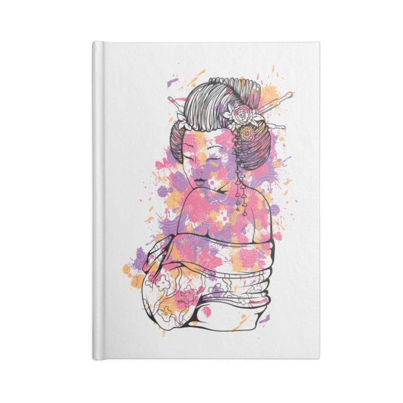 Geisha Accessories Notebook by Gab Fernando's Artist Shop