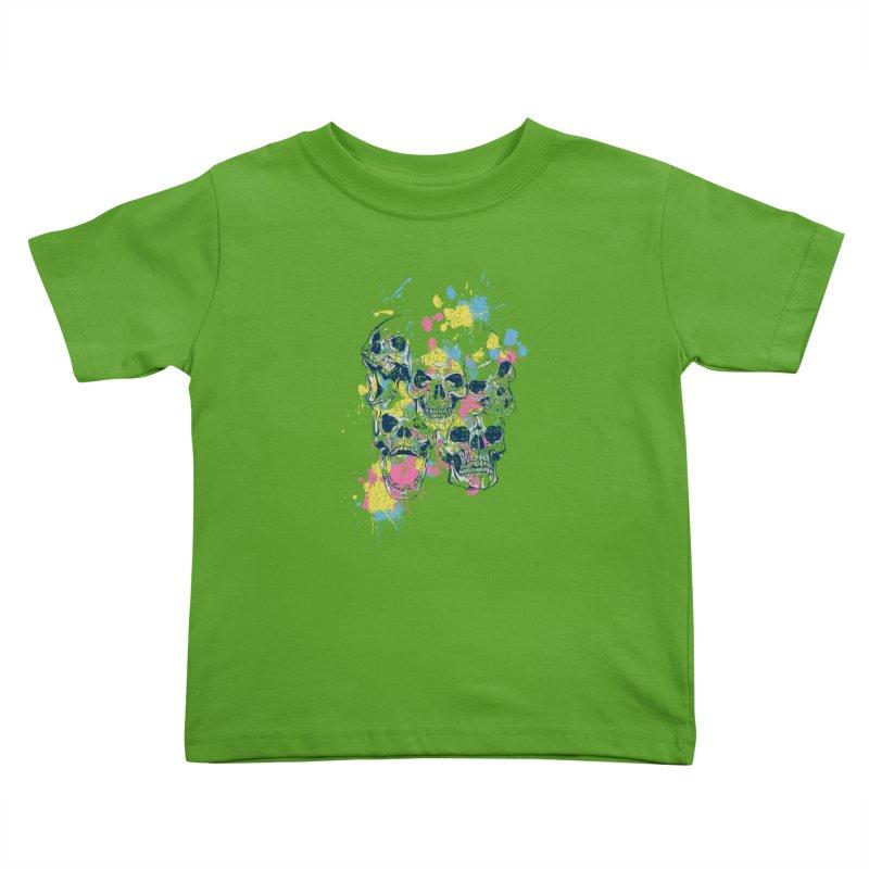 Party Skull Kids Toddler T-Shirt by Gab Fernando's Artist Shop