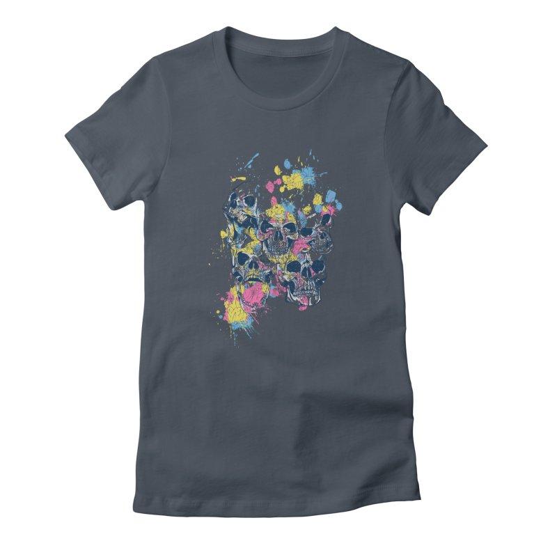 Party Skull Women's T-Shirt by Gab Fernando's Artist Shop